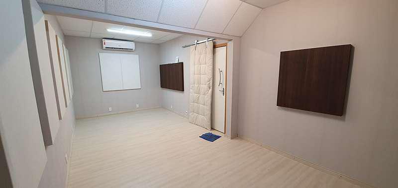Isolamento acústico estúdio de gravação