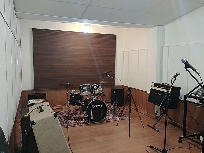Tratamento acústico para estúdio de gravação